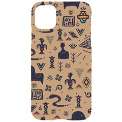 Vintage Tribal Seamless Pattern With Ethnic Motifs iPhone 11 Black UV Print Case