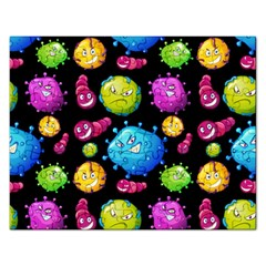 Seamless Background With Colorful Virus Rectangular Jigsaw Puzzl by Vaneshart