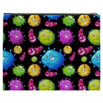 Seamless Background With Colorful Virus Cosmetic Bag (XXXL) Back