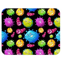 Seamless Background With Colorful Virus Double Sided Flano Blanket (medium)  by Vaneshart