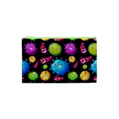 Seamless Background With Colorful Virus Cosmetic Bag (xs) by Vaneshart