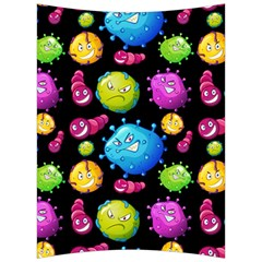 Seamless Background With Colorful Virus Back Support Cushion