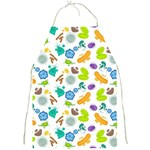 Bacteria Virus Seamless Pattern Full Print Apron Front