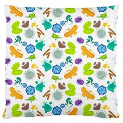 Bacteria Virus Seamless Pattern Large Cushion Case (two Sides) by Vaneshart