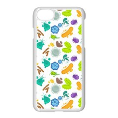 Bacteria Virus Seamless Pattern Iphone 8 Seamless Case (white) by Vaneshart