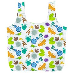 Bacteria Virus Seamless Pattern Full Print Recycle Bag (xxxl) by Vaneshart