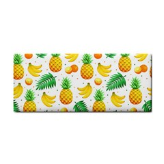 Tropical Fruits Pattern Hand Towel by Vaneshart