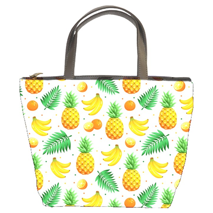 Tropical Fruits Pattern Bucket Bag