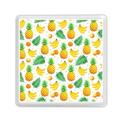 Tropical Fruits Pattern Memory Card Reader (square) by Vaneshart
