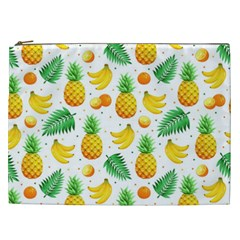 Tropical Fruits Pattern Cosmetic Bag (xxl) by Vaneshart