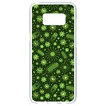 Seamless Pattern With Viruses Samsung Galaxy S8 White Seamless Case Front