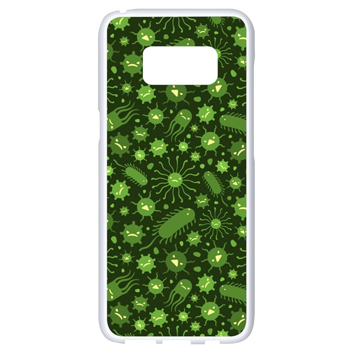 Seamless Pattern With Viruses Samsung Galaxy S8 White Seamless Case
