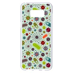 Seamless Pattern With Viruses Samsung Galaxy S8 Plus White Seamless Case
