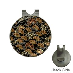 Oriental Traditional Seamless Pattern Dragon Hat Clips With Golf Markers