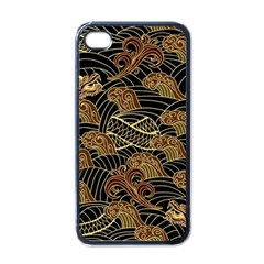 Oriental Traditional Seamless Pattern Dragon Iphone 4 Case (black) by Vaneshart