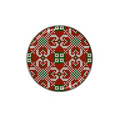 Grandma S Christmas Knitting Pattern Red Green White Colors Hat Clip Ball Marker (10 Pack) by Vaneshart