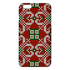 Grandma S Christmas Knitting Pattern Red Green White Colors Iphone 6 Plus/6s Plus Tpu Case by Vaneshart