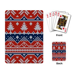 Vector Seamless Ornament Knitted Texture Playing Cards Single Design (rectangle)