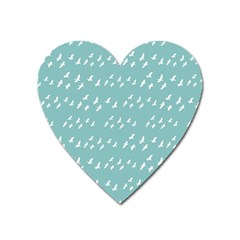 Group Of Birds Flying Graphic Pattern Heart Magnet by dflcprintsclothing