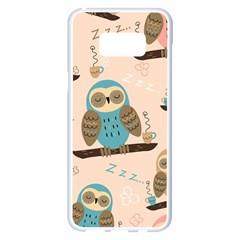 Seamless Pattern Owls Dream Cute Style Fabric Samsung Galaxy S8 Plus White Seamless Case by Vaneshart