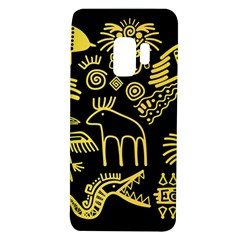 Golden Indian Traditional Signs Symbols Samsung Galaxy S9 Tpu Uv Case