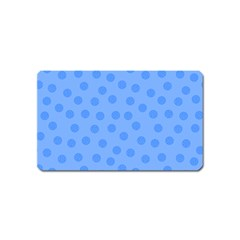 Dots With Points Light Blue Magnet (name Card) by AinigArt