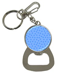 Dots With Points Light Blue Bottle Opener Key Chain