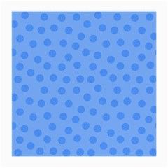 Dots With Points Light Blue Medium Glasses Cloth (2 Sides) by AinigArt