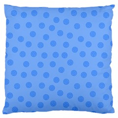Dots With Points Light Blue Large Cushion Case (two Sides) by AinigArt