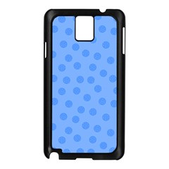 Dots With Points Light Blue Samsung Galaxy Note 3 N9005 Case (black) by AinigArt