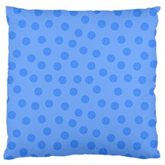 Dots With Points Light Blue Standard Flano Cushion Case (two Sides) by AinigArt
