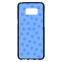 Dots With Points Light Blue Samsung Galaxy S8 Plus Black Seamless Case by AinigArt