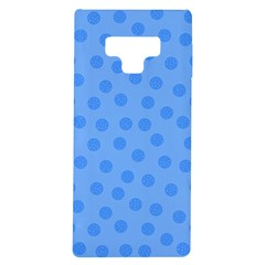 Dots With Points Light Blue Samsung Galaxy Note 9 Tpu Uv Case by AinigArt