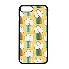 Smile Cloud Rainbow Pattern Yellow Iphone 7 Plus Seamless Case (black)