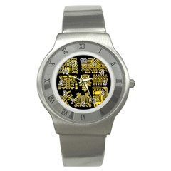 American Golden Ancient Totems Stainless Steel Watch by Vaneshart