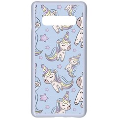 Pattern With Cute Unicorns Samsung Galaxy S10 Plus Seamless Case(white) by Vaneshart