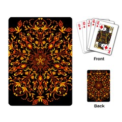 Round Frame Bees Honey Drops Insects Khokhloma Decor Summer Spring Themes Playing Cards Single Design (rectangle)