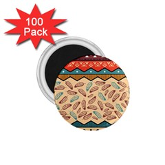 Ethnic Tribal Pattern Background 1 75  Magnets (100 Pack)  by Vaneshart