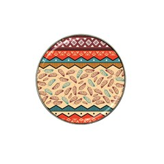 Ethnic Tribal Pattern Background Hat Clip Ball Marker (4 Pack) by Vaneshart