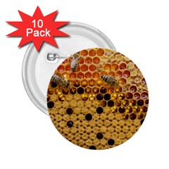 Top View Honeycomb 2 25  Buttons (10 Pack)  by Vaneshart
