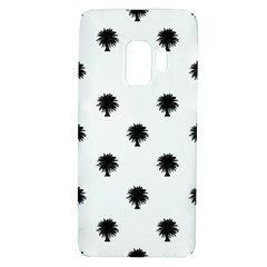 Black And White Tropical Print Pattern Samsung Galaxy S9 Tpu Uv Case by dflcprintsclothing