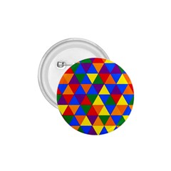 Gay Pride Alternating Rainbow Triangle Pattern 1 75  Buttons by VernenInkPride