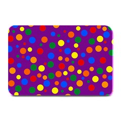 Gay Pride Rainbow Multicolor Dots Plate Mats by VernenInkPride