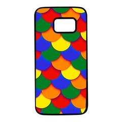 Gay Pride Scalloped Scale Pattern Samsung Galaxy S7 Black Seamless Case by VernenInkPride