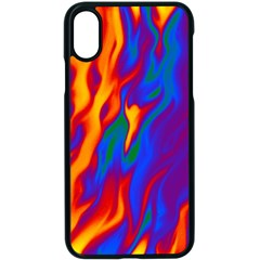 Gay Pride Abstract Smokey Shapes Iphone X Seamless Case (black) by VernenInkPride