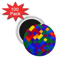 Gay Pride Diagonal Pixels Design 1 75  Magnets (100 Pack)  by VernenInkPride