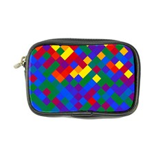 Gay Pride Diagonal Pixels Design Coin Purse by VernenInkPride