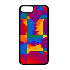 Gay Pride Rainbow Painted Abstract Squares Pattern Iphone 8 Plus Seamless Case (black) by VernenInkPride