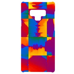Gay Pride Rainbow Painted Abstract Squares Pattern Samsung Note 9 Black Uv Print Case  by VernenInkPride
