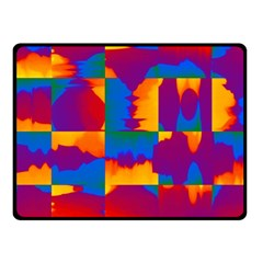 Gay Pride Rainbow Painted Abstract Squares Pattern Fleece Blanket (small) by VernenInkPride